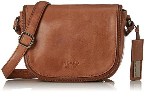 Picard Damen Real Umhängetasche, Braun (Cognac) 7x16x21 cm