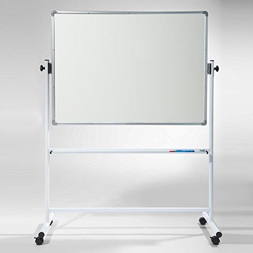 Office Marshal Mobiles Whiteboard/Doppelseitige Whiteboard- mit Alurahmen, magnetisch - 120 x 90 cm