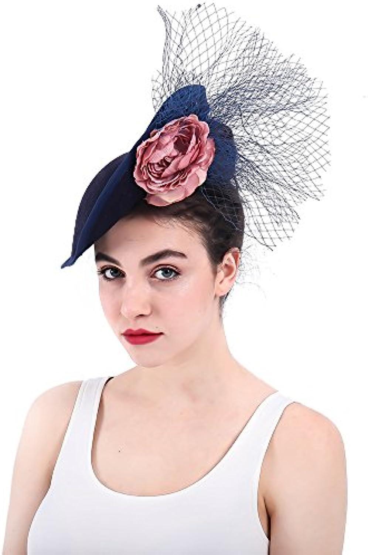 Fascinators Hat Feather Headwear Cappello da Donna Fascinator Cocktail Tea  Wedding Party Hat Wedding Tea Headwear ab8295f98731