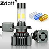 #2: Zdatt V8 Series, 12000LM, 100W (50W/Bulb), Car Headlight, Fog Headlight, Motorbike Headlight Conversion Kit - 3000K/6000K/8000K - H1, H4, H7, H11, HB3/9005, HB4/9006 (H7)