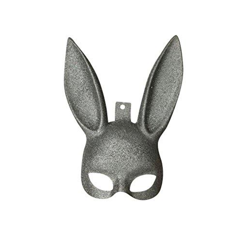 sichtsmaske Bunny Rabbit Maske Ostern Party Supplies Kostüm Cosplay Zubehör (Schwarz Glitter) (Glitter Maskerade Masken)