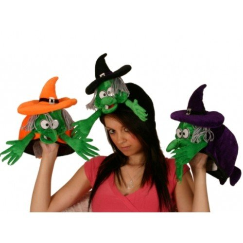 Witch Hat Head with Coloured Band
