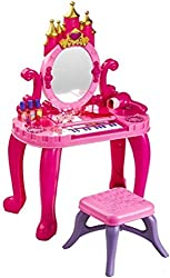 Saffire Castle Vanity Table Set with Piano & Real Blower