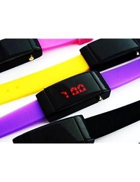 Ultra Schmale Damen Sommer LED Uhr ,,Lila,,