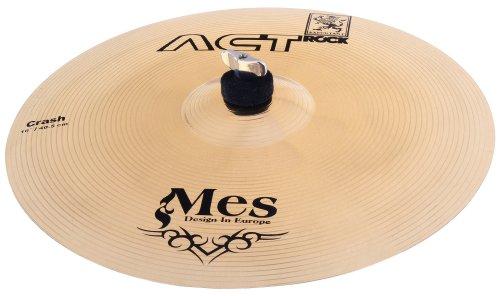"""MES 16"""" Crash Becken für Schlagzeug (Act Series Drum Becken, Material: Bronze, gehämmert)"""