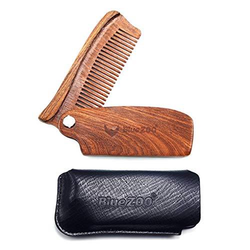 Holzklapp Beard Kamm, Pocket Size feinen Zahn-Bär Combs Anti-Static Kämme für Männer und Frauen -