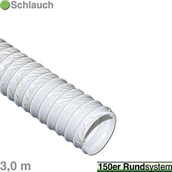 Vioks 3m abluftschlauch luftschlauch flexibel f r for Stahlwandpool 3m durchmesser