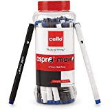 Cello Aspro Mavro Ball Pen (25 Pens Jar - Blue) | Ball pen set with smart look | Smooth Writing pens | School & Office Stationery | Ideal for Work from Home