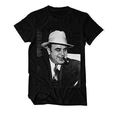 Al Capone Gangsterboss Fun T-Shirt Herren Schwarz