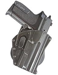 Fobus nouvelle étui de sécurité de transport dissimulé Fobus pour Sig Sauer Sig Pro SP 2009 / 2022 (sans rail) / CZ 99 Zastava rétention pistolet étui en polymère noir