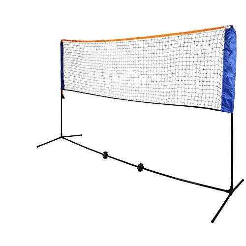 Oypla Kleines 3m justierbares faltbares Badminton-Tennis-Volleyball-Netz