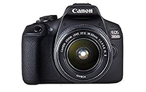 *Canon EOS 2000D Spiegelreflexkamera mit dem Objektiv EF-S 18-55 IS II Kit*