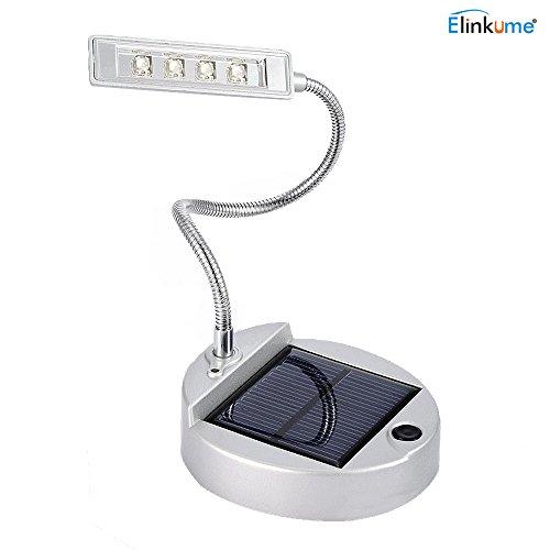 Elinkume Lampe de Bureau Solaire Lampes de Table4LEDs Pliable Lampe de Lecture LED Portable Lampe de Chevet
