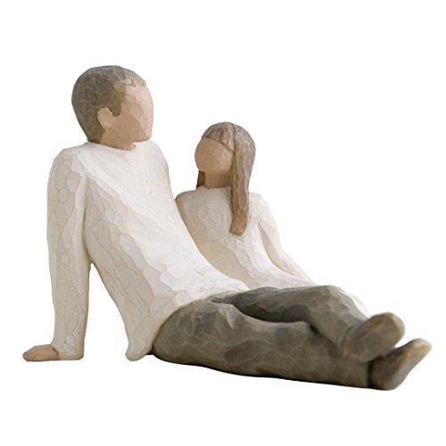 Willow Tree 26031 Figur Vater und Tochter, 17,8 x 15,2 x 12,1 cm