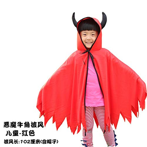 FENG Halloween - Umhang Erwachsenen Tod Teufel, Teufel Umhang cos Leistung kostüm Kinder kürbis Umhang,f