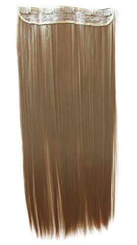 Prettyshop xxl 5 clips one piece di clip in extension parrucche dei capelli lisci a pelo lungo 70 cm d'oro bionda # 22t c64