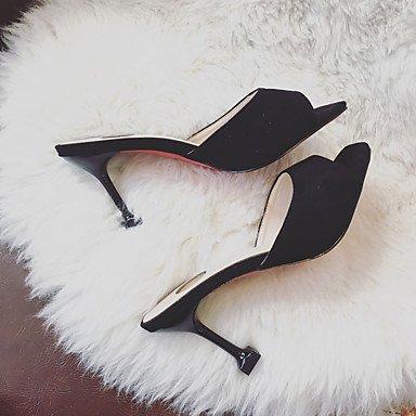 LvYuan Da donna Sandali Comoda Gomma Estate Footing Comoda Basso Nero Beige Blu Meno di 2,5 cm Black
