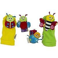 Lamaze Gardenbug Wrist Rattle Footfinder Baby Gift Set