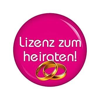 Kiwikatze ® jGA-licence pour épouser rose 56 mm button ansteckbutton enterrement de vie de jeune fille et mariage