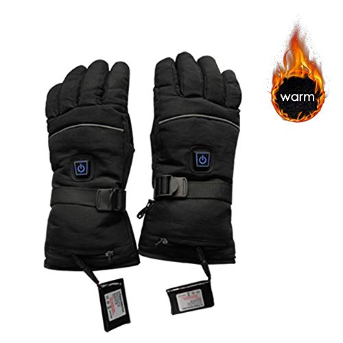 Yunhigh ricarica usb guanti riscaldati elettrici impermeabili inverno sci snow snowboard guanti termici invernali guida esterna moto guida motoslitta scaldamani per uomo donna