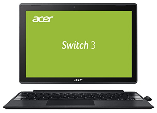 Acer Switch 3 SW312-31-P8VE 31 cm (12,2 Zoll Full-HD) Convertible Notebook (Intel Pentium N4200 Quad-Core, 4GB RAM, 128GB eMMC, Intel HD, Win 10 Home im S Modus) grau, Acer Active Pen (Für Computer Touch-tablet Den)