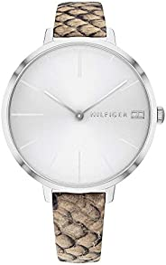 Tommy Hilfiger Women'S White Dial Multicolor Leather Watch - 178