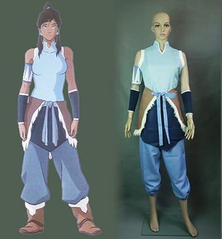 Avatar The Legend of Korra Korra cosplay costume(nous envoyer votre taille), taille S: 155-160 cm