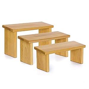 Stork – Gutes zum Leben Meditationsbank Holz – Verschiedene Höhen – Klappbare – Edelholz – Optional mit MeditationsMatte & Polster