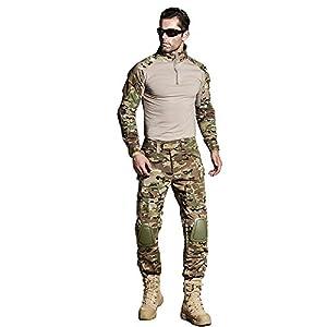cedaract BDU Camouflage Uniforme de l'armée G3Multicamo Chemise avec coudières et pantalon avec genouillères