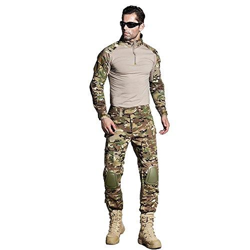 CedarAct uniforme militar G3 Multicamo Airsoft camisa con codo y Airsoft pantalones con rodillera