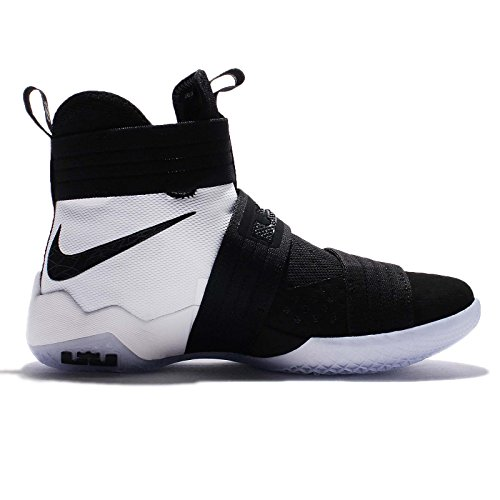 Nike Lebron Soldier 10 Sfg, Scarpe da Basket Uomo Nero/Nero-Bianco