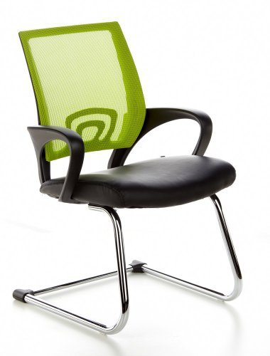 Buerostuhl24 650440 Visto Net Conference/Cantilever Chair Black / Green by hjh OFFICE