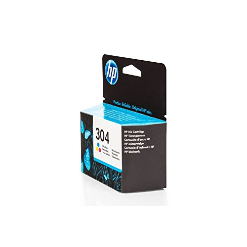 Original HP N9K05AE / 304, für DeskJet 3720 Premium Drucker-Patrone, Cyan, Magenta, Gelb, 2 ml -