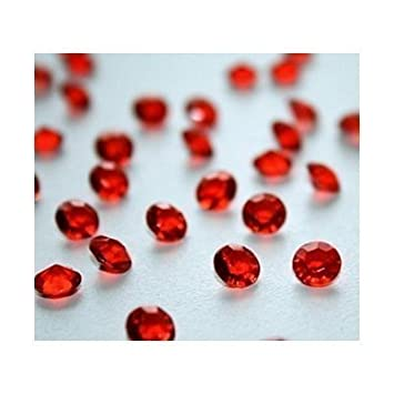 4000 ruby red diamond scatter crystals wedding table decoration by 4000 ruby red diamond scatter crystals wedding table decoration by wonderland home by wonderland home amazon kitchen home junglespirit Gallery