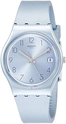 Swatch Damen Analog Quarz Uhr mit Silikon Armband GL401 - Uhren Swatch Von