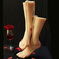 1 Pair Silicone Life size Mannequin Leg Foot Fetishism Display Jewerly Sandal Shoe Display Art Sketch