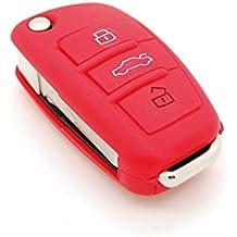 Funda de llave de silicona de 2botones para coche Audi (apta para modelos de Audi 1/A3/A3/A4/A/A5)