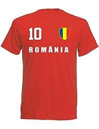 aprom - Rumänien Kinder T-Shirt Trikot ALL-10 Rot - WM 2018 Fußball