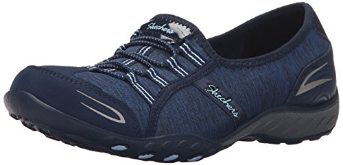 Skechers Breathe-easy allure, Baskets Basses femme Navy/Light Blue