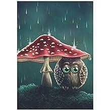 interestprint Funny erizo y Fox con paraguas poliéster bandera de Jardín al aire libre bandera 28x 40inch, otoño bosque casa grande banderas decorativas para Fiesta Patio Decoración del hogar