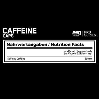 ESN Koffeinkapseln Rückseite