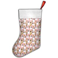 Cactus Dogs Cute Dog French Bulldog Christmas Hanging Stocking,Assorted Santa Gift Socks Hanging Accessories