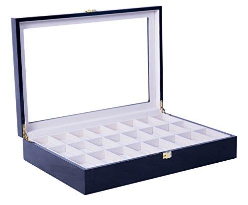 feibrand-uhrenbox-fur-24-uhren-uhrenkasten-schwarz-glas-holz