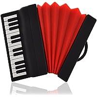 818-Shop No690005 Gehäuse für USB-Sticks (ohne 2/4/8/16/32/64 GB) Instrument Akkordeon 3D schwarz