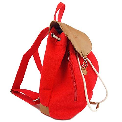 7b8d3c34e7ad6 ... grau Aus Leder Designer Leicht Filz Elementen Rot Unisex Sehr Rucksack  Und Venetto Backpack EPwqaE ...