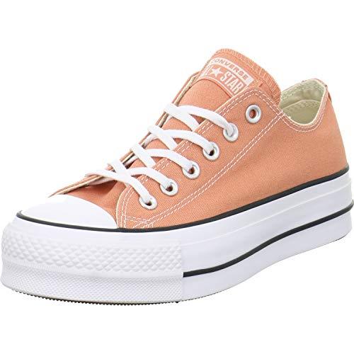 Converse Damen Chuck Taylor All Stars Sneaker Elfenbein (Desert Peach/White/Black 000) 37 EU (Plattform Schuhe - Converse)