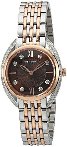 Bulova Femme Quartz analogique Montre avec Bracelet en Acier Inoxydable 98R230