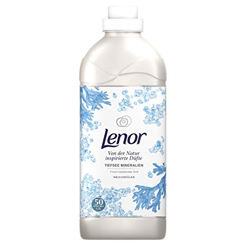 Lenor Weichspüler Tiefsee Mineralien, von Der Natur Inspirierter Duft, 50 Waschladungen, 1,5 L