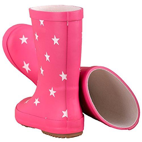BMS Bottes en caoutchouc rouge taille 20 pink + Sternen