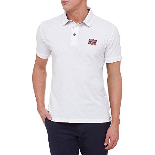 Napapijri Herren Jersey Eloth Polo-Shirt Weiß XXL (Polo-shirt Jersey-weiß)
